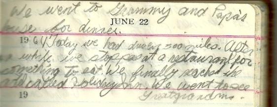 diary july 1964