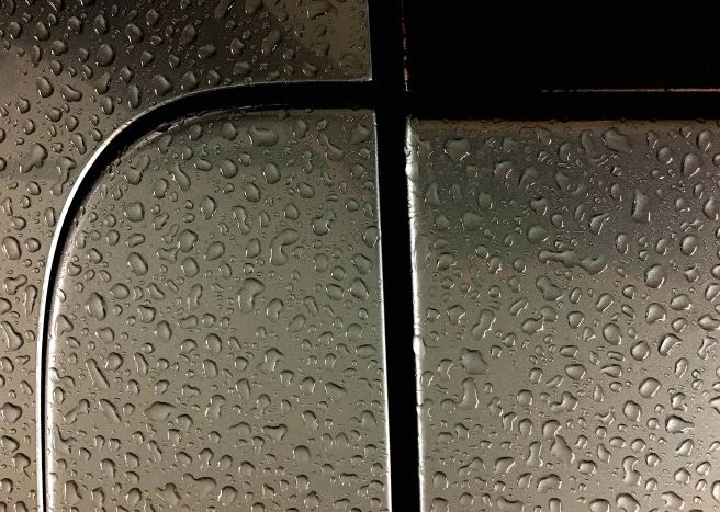 raindrops on car