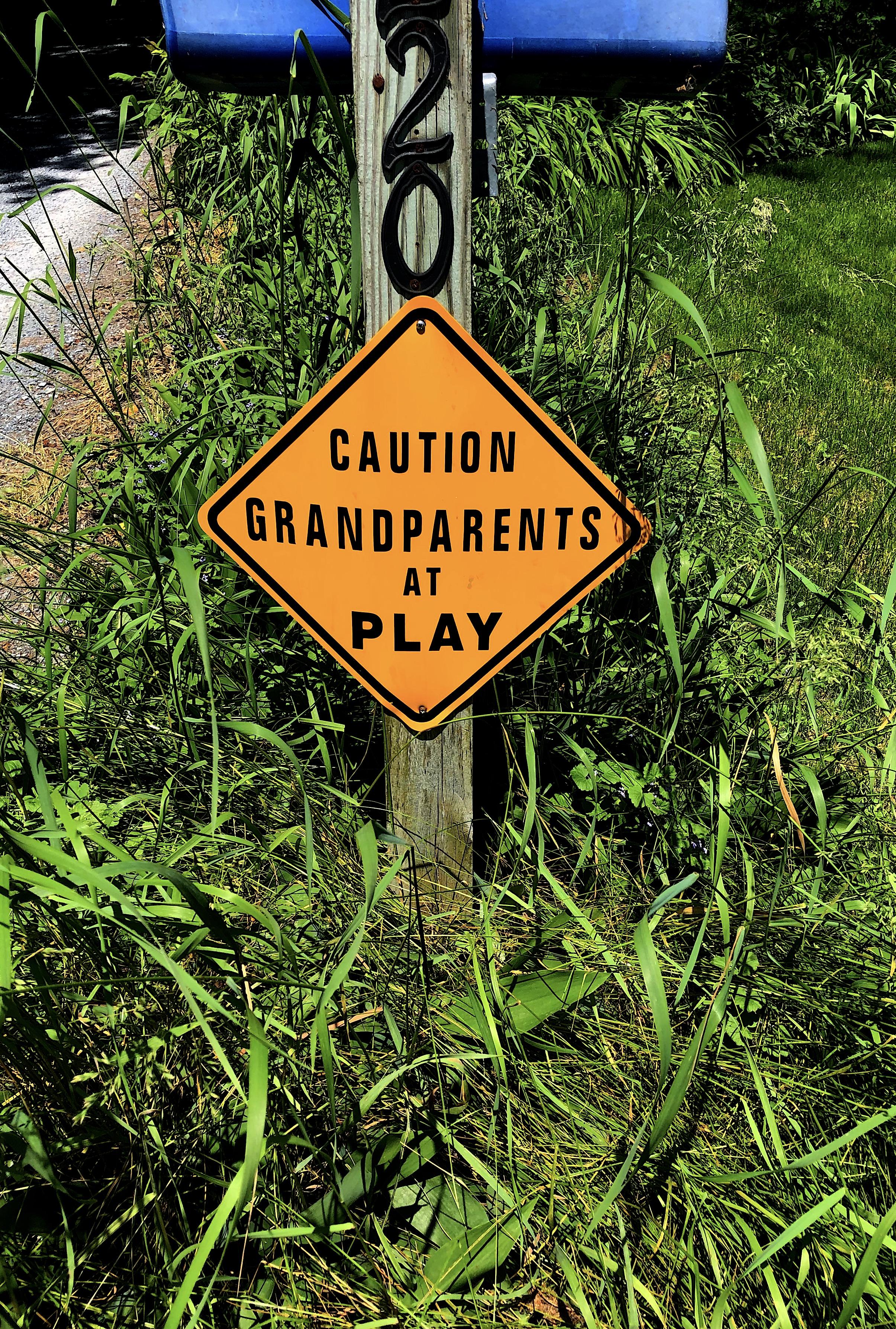 grandparents playtime sign