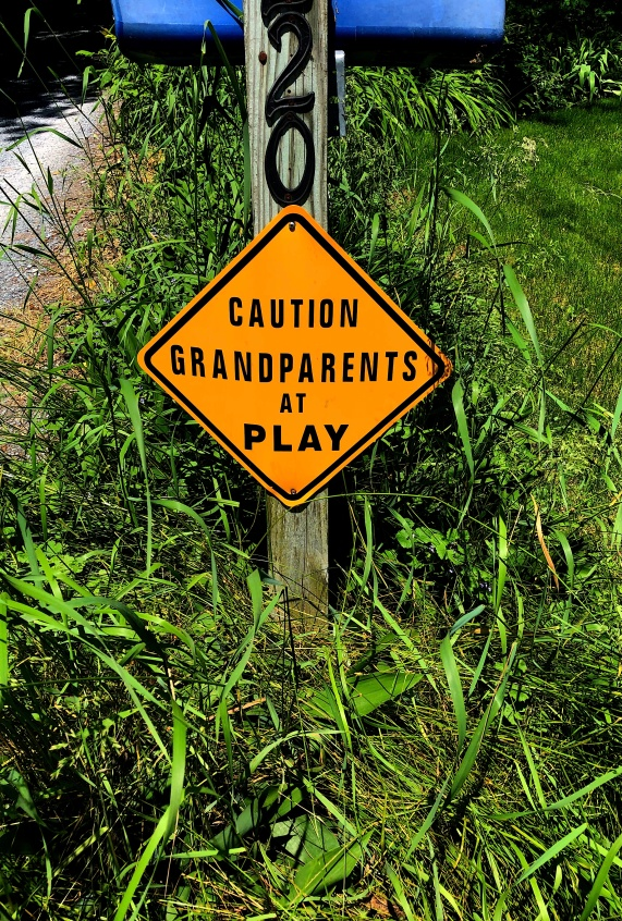 grandparents playtime sign