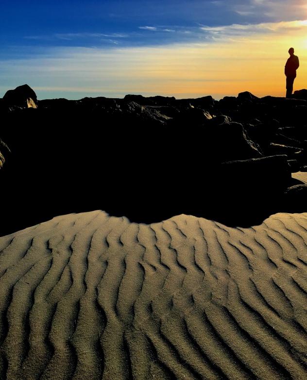 silhouette beach