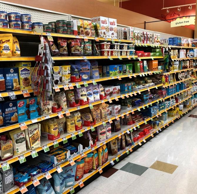 gluten free aisle
