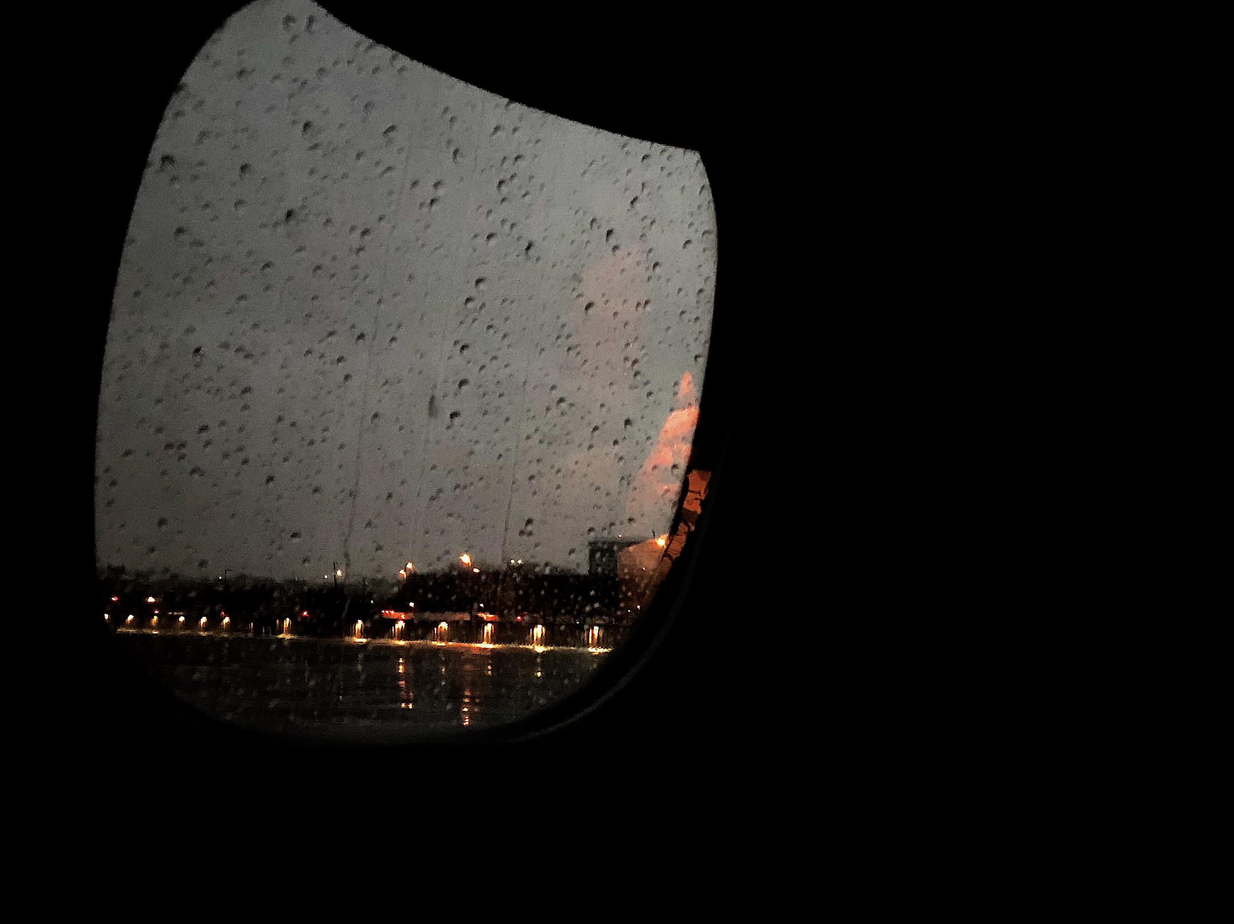 rain plane window